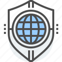 countries, defense, foreign policy, globe, nation, shield, trade icon