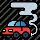 car, co2, contamination, gas, pollution icon