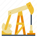 digger, excavator, oil, petrol, pollution icon