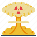 dangerous, nuclear, plant, pollution, radiation icon