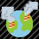 contamination, industry, pollution, smoke, world icon
