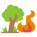disaster, ecology, natural, pollution, wildfire icon