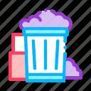 container, rubbish, trash icon icon