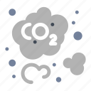 carbon, co2, dioxide icon