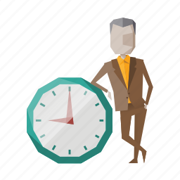 business, businessman, clock, management, time, timer, watch icon