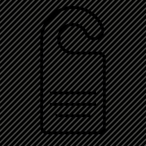 door holder, polygraphy icon