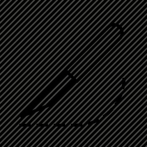 cutting, knife, polygraphy icon