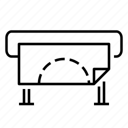 plotter, polygraphy, printer icon