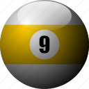 ball, billiards, pool, pool balls, pool table, recreational sports, sports icon