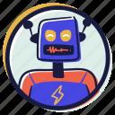 user, account, avatar, retro, artificial, intelligence, robot