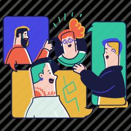 communication, video, call, group, team, conversation, talk