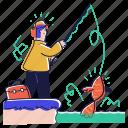 hobby, fishing, fisherman, fish, food, bait, pole