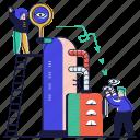marketing, view, eye, machinery, views, monetization, automatic