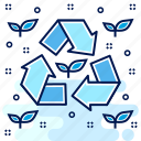 eco, ecology, ecosystem, environment, recycle, reprocess, reuse icon