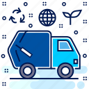 eco, ecology, ecosystem, management, recycle, truck icon