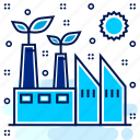 eco, ecology, ecosystem, environment, environmental, factory, mill icon