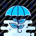 eco, ecology, ecosystem, insurance, protection, safety, umbrella icon