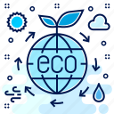 eco, ecology, ecosystem, environment, science, system icon