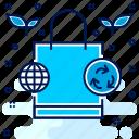 friendly, environmental, eco, bag, ecology, environment icon