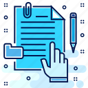 document, file, manuscript, paper, sheet, test icon