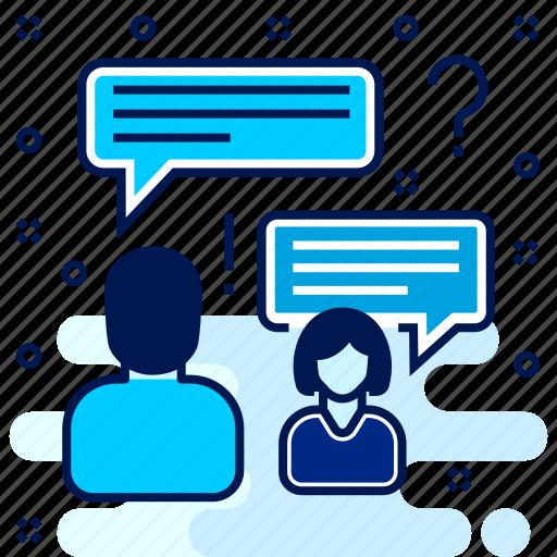 chat, chatting, faq, feedback, help, information, question icon