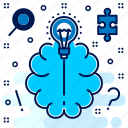 brain, brainstorm, brainstorming, idea, suggest, think icon