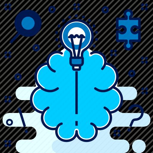 brain, brainstorm, brainstorming, idea, suggest, think icon