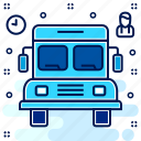 bus, conveyance, school, transport, transportation, van, vehicle icon