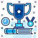 champion, competition, honor, medal, prize, recognition, reward icon