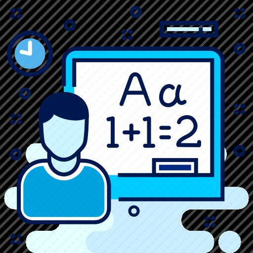 blackboard, class, classroom, education, learn, mathemetic, maths icon