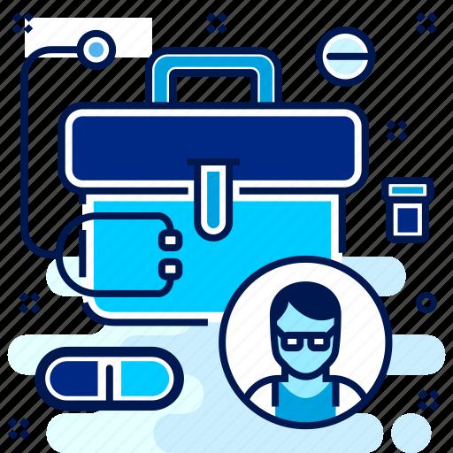 bag, briefcase, doctor, kit, medical icon