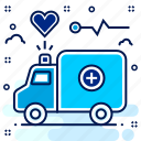 ambulance, care, emergency, hospital, medical, van icon