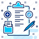 clipboard, item, items, medical, report icon