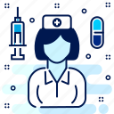 care, female, hospital, medical, nurse, sister icon