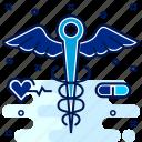 caduseus, care, hospital, logo, medical, sign