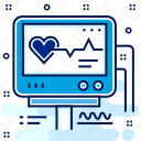 analysis, heart, hospital, medical, monitor, report icon
