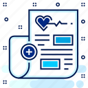 article, blog, hospital, medical, news, report icon