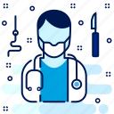 doctor, hospital, medical, practitioner, surgeon icon