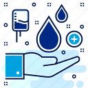 blood, drop, drops, hospital, medical, save icon
