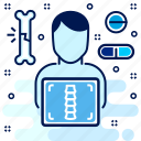 body, checkup, hospital, medical, xray icon