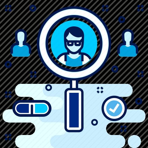 doctor, hospital, medical, medicine, search icon