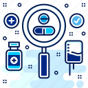 hospital, medical, medicine, pills, search, tablet, tablets icon