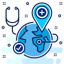 find, locate, location, medical, search, store, us icon