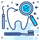 care, cavity, dentistry, germs, protection, tooth, toothache icon