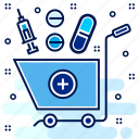 cart, medication, medicine, pills, remedy, tablets