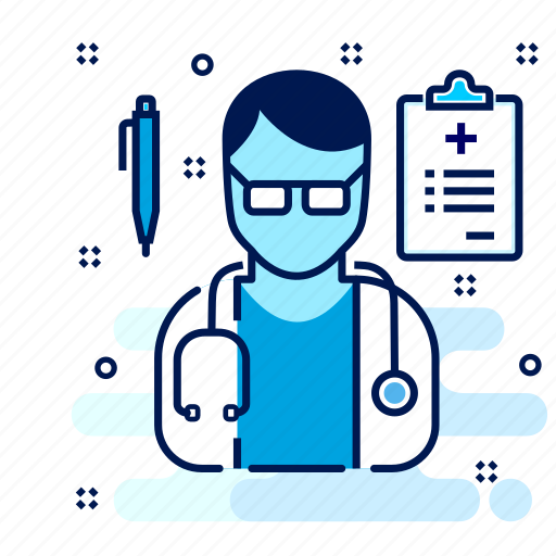 care, doctor, male, practitioner, surgeon icon