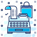 bill, billing, cash, invoice, machine, money, receipt icon