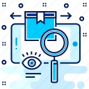 analysis, find, item, items, search, view, vision icon