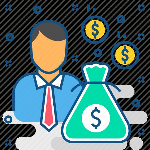 businessman, cash, investment, investor, money, revenue icon
