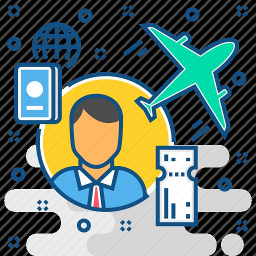 business, passport, tour, tourism, travel icon